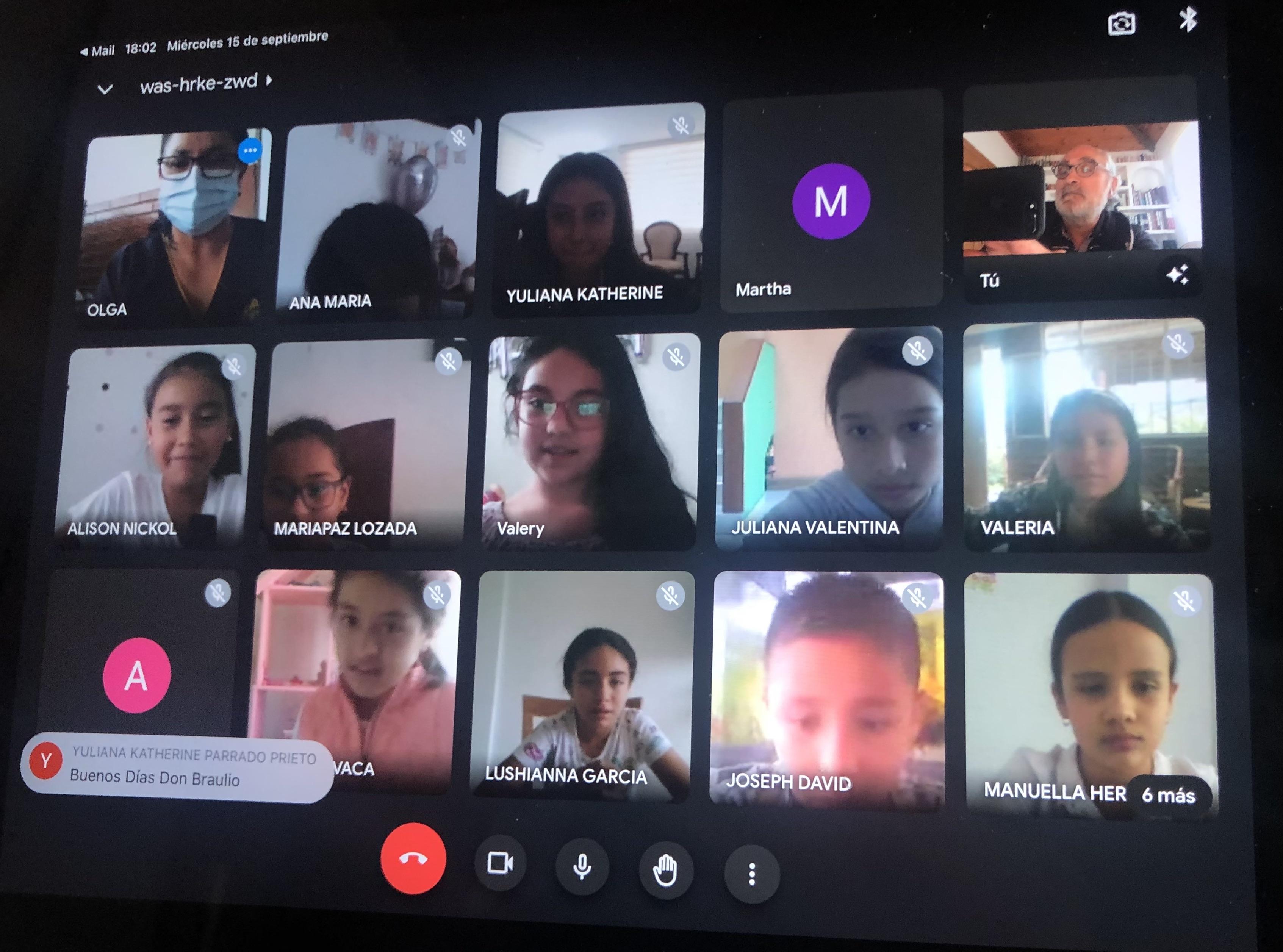 Nuevo encuentro con escolares de Bogotá